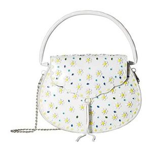 NWT Sam Edelman Hard metal embossed daisy purse